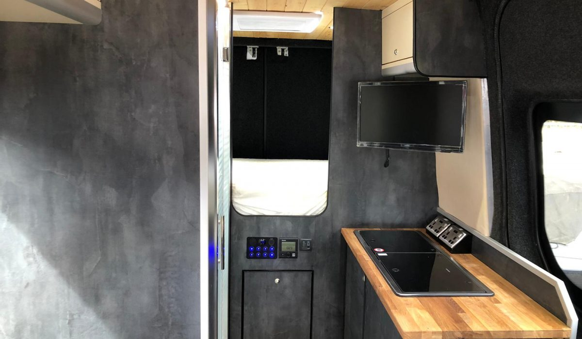 Sprinter Kitchen, shower room and bedroom access 2021